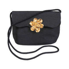 Yves Saint Laurent Silk Faille Bag with Floral Decoration