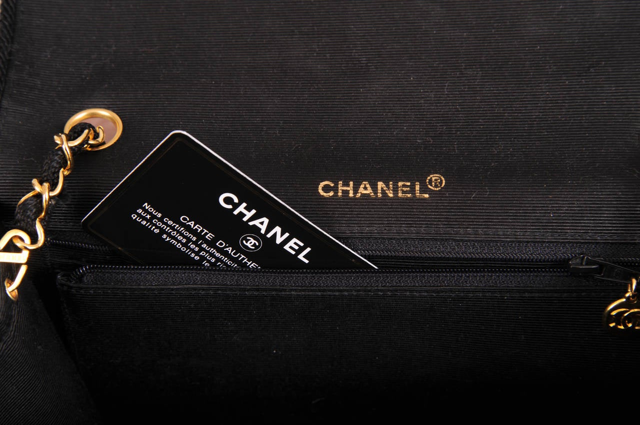 Chanel Sparkling Black Sequin Quilted Bag with Chain Strap, Never Used 6
