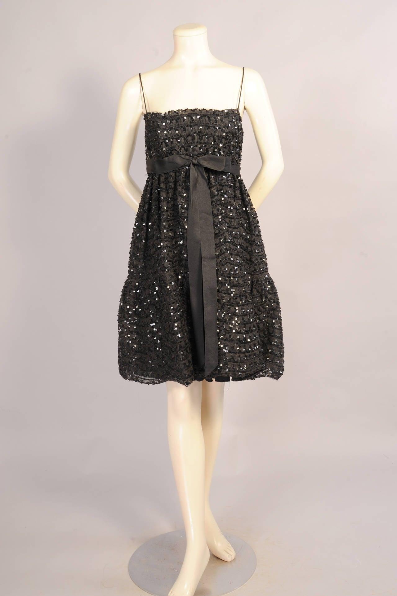 Bill Blass for Maurice Rentner Beaded Babydoll Dress 2