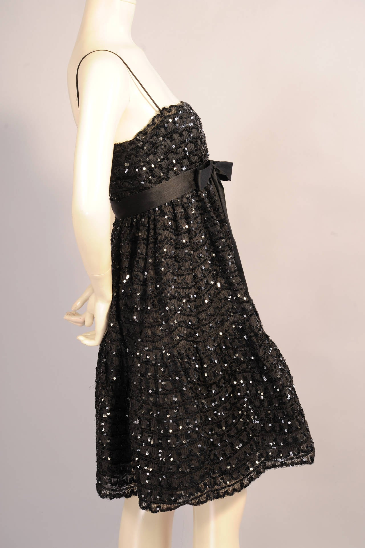 Bill Blass for Maurice Rentner Beaded Babydoll Dress 3