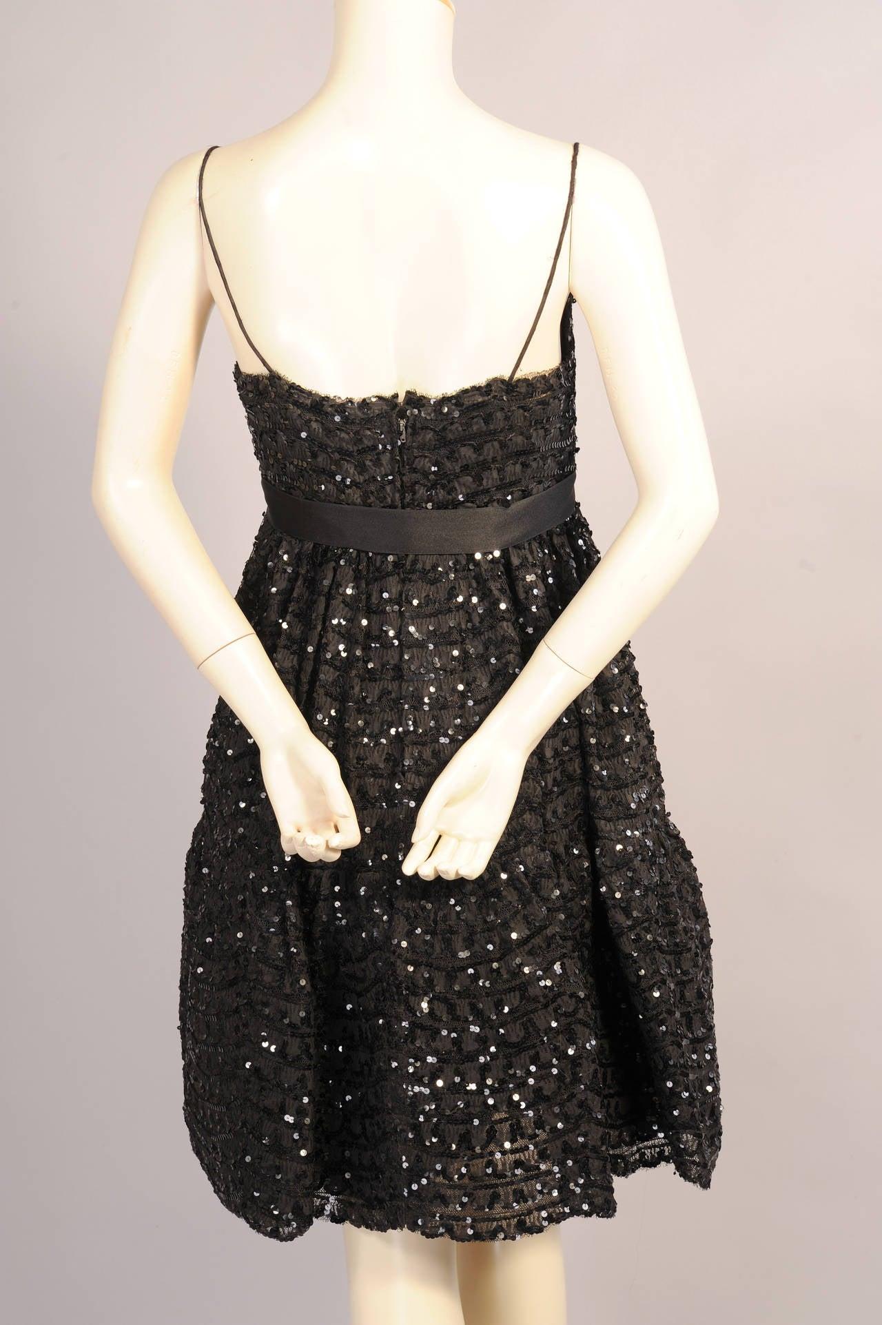 Bill Blass for Maurice Rentner Beaded Babydoll Dress 4