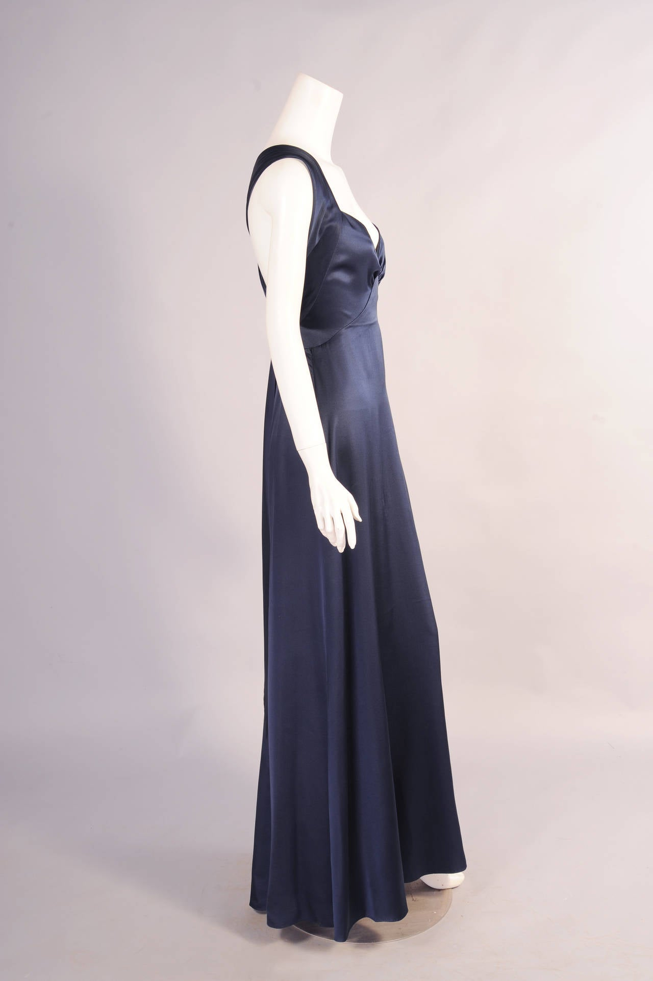 yves saint laurent numbered haute couture evening gown for sale at 1stdibs. Black Bedroom Furniture Sets. Home Design Ideas
