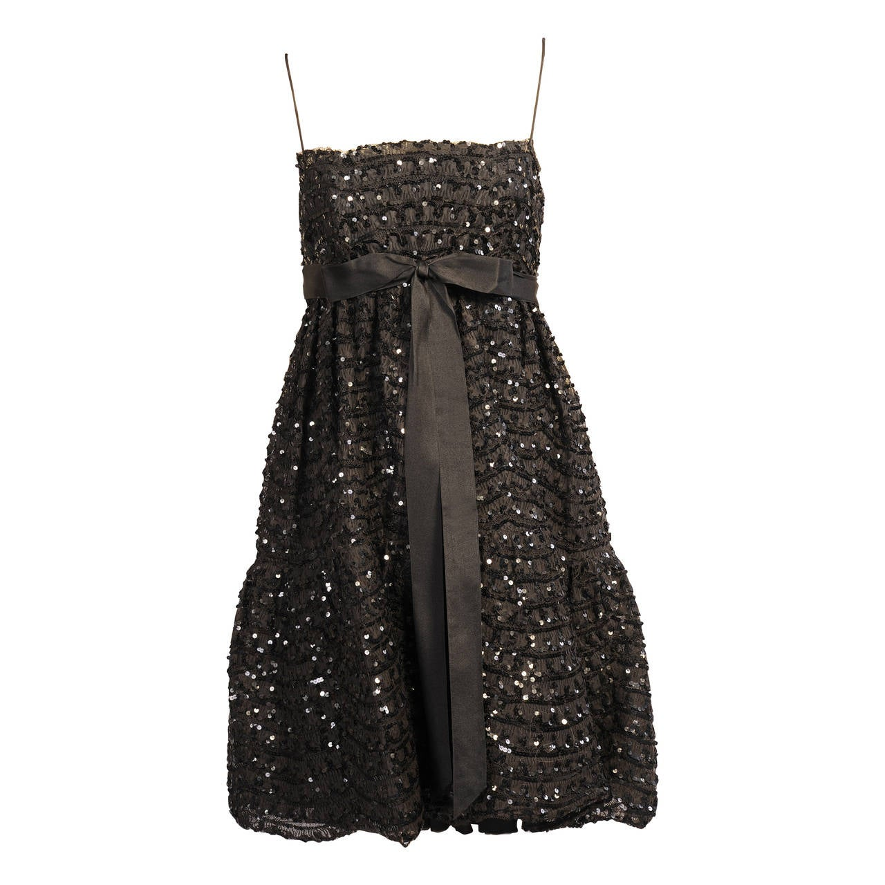 Bill Blass for Maurice Rentner Beaded Babydoll Dress 1