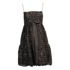 Bill Blass for Maurice Rentner Beaded Babydoll Dress