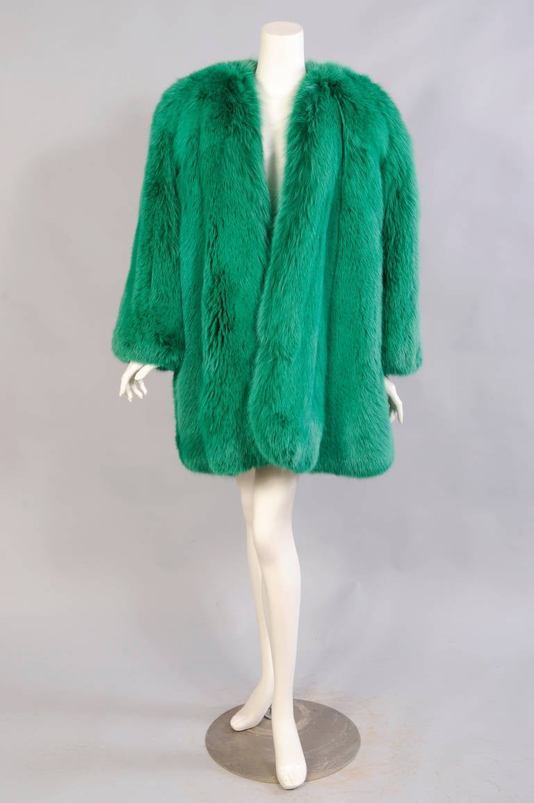 Givenchy Haute Couture Runway Worn Green Fox Jacket 2