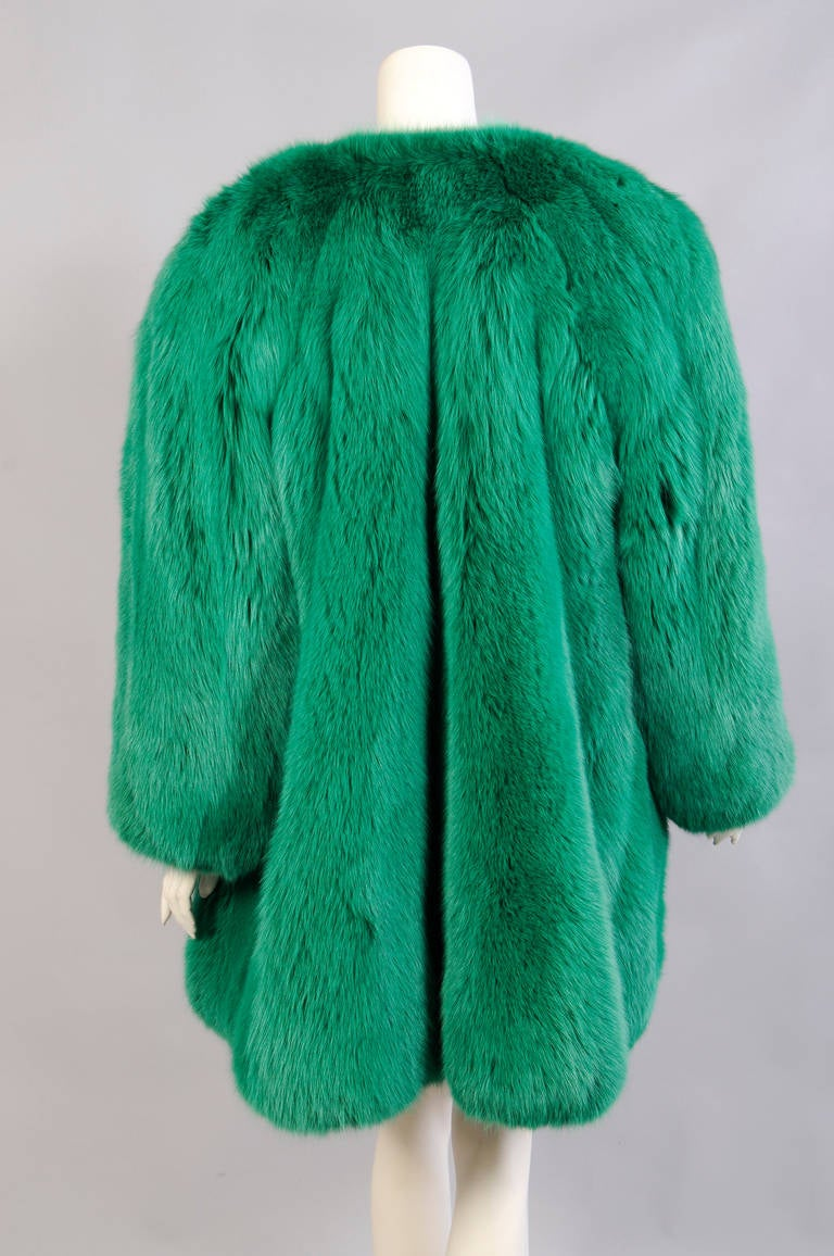 Givenchy Haute Couture Runway Worn Green Fox Jacket 4