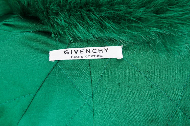 Givenchy Haute Couture Runway Worn Green Fox Jacket 5