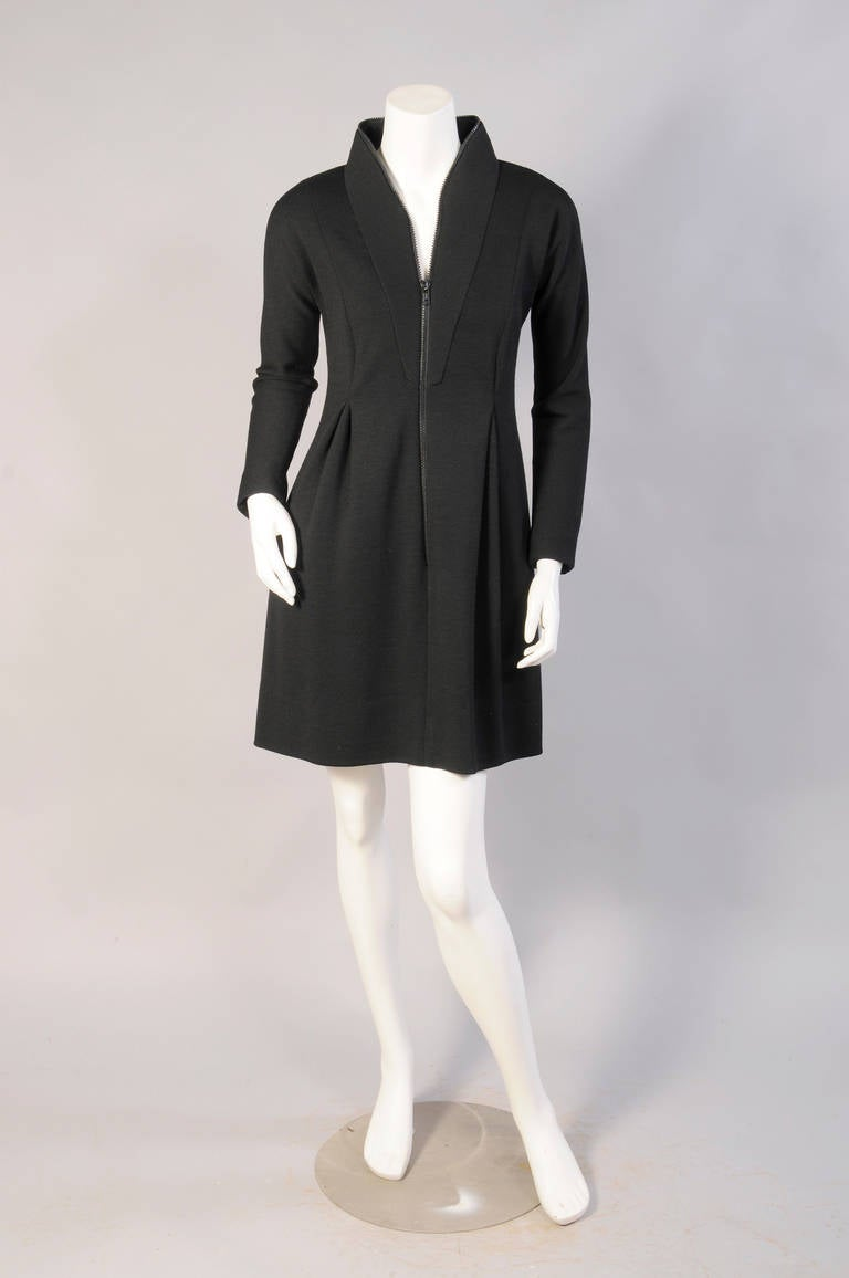 Geoffrey Beene Zipper Around The Neck Dress For Sale At: fashion designer geoffrey
