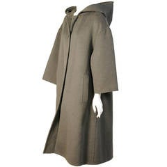 Geoffrey Beene Loden Green Coat with Hood