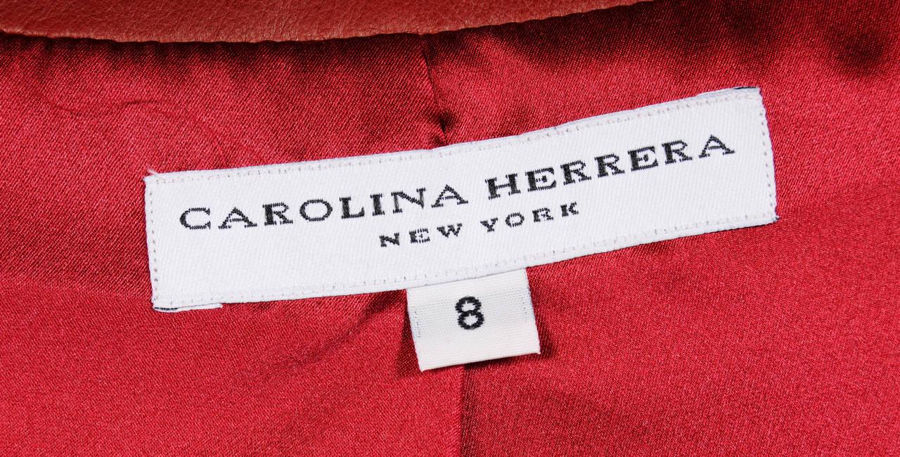 Carolina Herrera Burgundy Leather Jacket  5