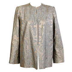 Rare Fortuny Stenciled Cotton Jacket, late 1930's