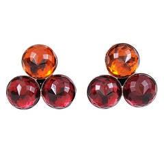 Yves Saint Laurent Three Stone Earrings, Never Worn