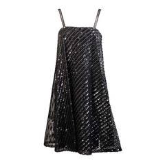 1960's Bill Blass for Maurice Rentner Beaded Trapeze Dress