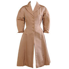 Jean Desses American Collection Silk Faille Coat
