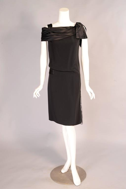 Christian Lacroix Haute Couture Sheath with Optional Tattoo Lace Sleeves 3