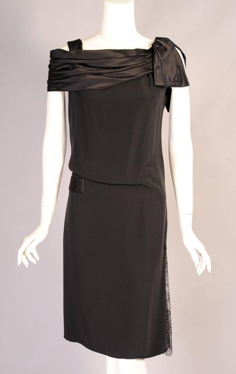 Christian Lacroix Haute Couture Sheath with Optional Tattoo Lace Sleeves 2