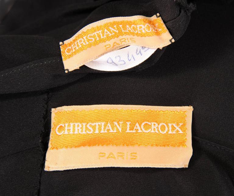 Christian Lacroix Haute Couture Sheath with Optional Tattoo Lace Sleeves 6