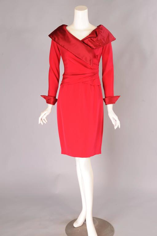 Christian Lacroix Numbered Haute Couture Red Satin & Silk Dress 2