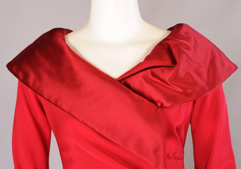 Christian Lacroix Numbered Haute Couture Red Satin & Silk Dress 5