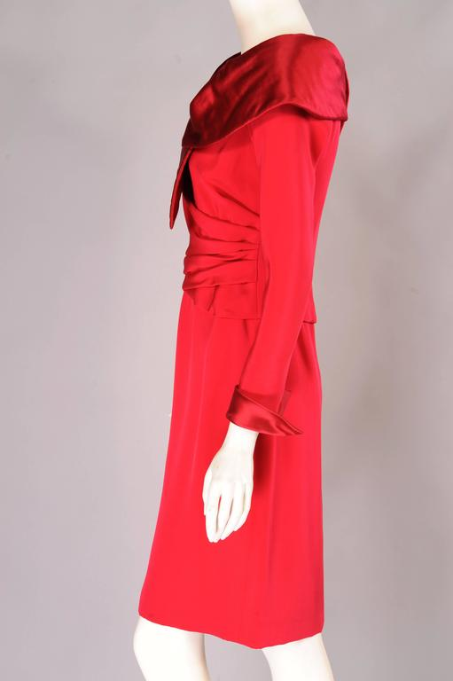 Christian Lacroix Numbered Haute Couture Red Satin & Silk Dress 3