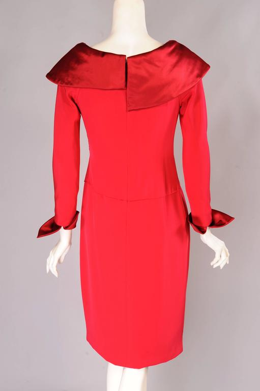 Christian Lacroix Numbered Haute Couture Red Satin & Silk Dress 4