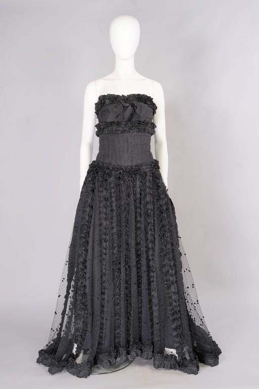 Chanel Point d'esprit and Silk Runway Worn Haute Couture Ballgown   2