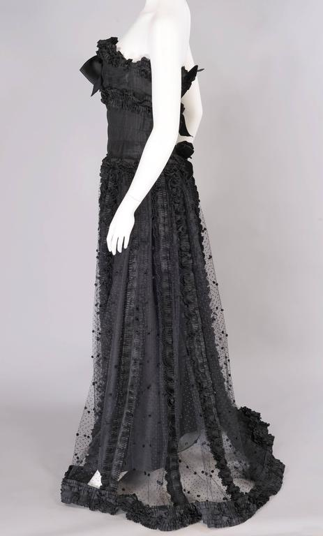Chanel Point d'esprit and Silk Runway Worn Haute Couture Ballgown   5