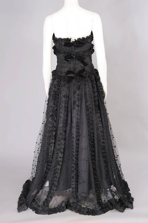 Chanel Point d'esprit and Silk Runway Worn Haute Couture Ballgown   6