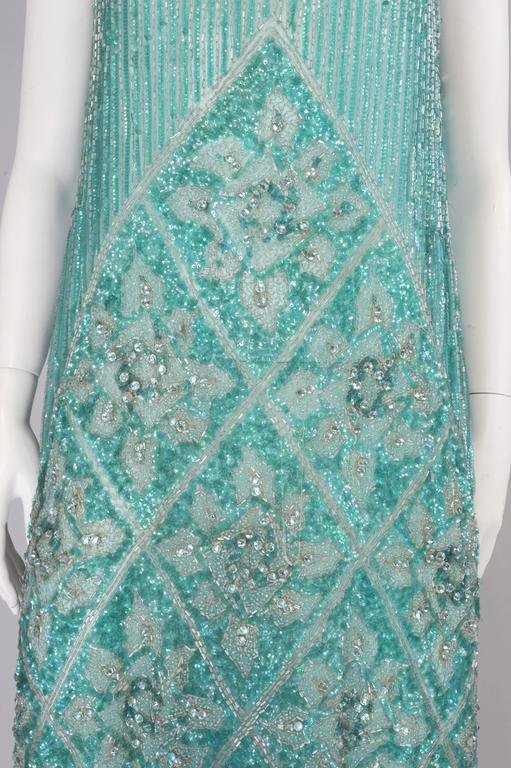 1920's French Beaded Flapper Dress & Rare Matching Headpiece For Sale 1