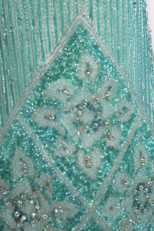 1920's French Beaded Flapper Dress & Rare Matching Headpiece For Sale 2
