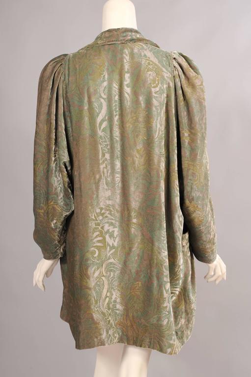 1920 S Fortuny Style Stenciled Silk Velvet Evening Jacket