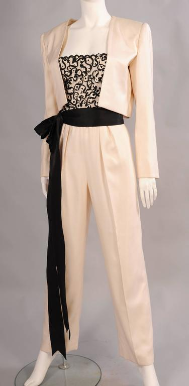 Women's Givenchy Haute Couture Beaded, Strapless Jumpsuit with Jacket For Sale