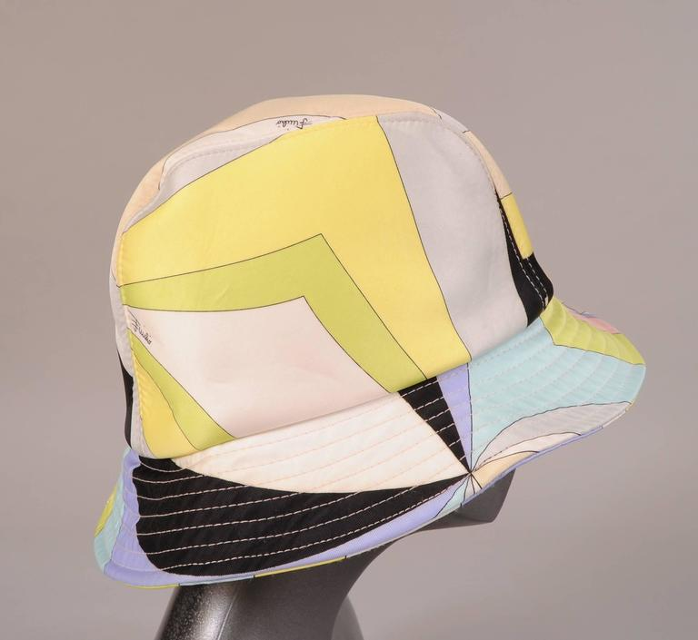 fad198fcad55b A fabulous and colorful Pucci print makes this an eye catching hat. It has a