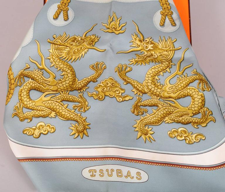 Tsubas 1980's Hermes Silk Scarf Designed by Christiane Vauzelles 2