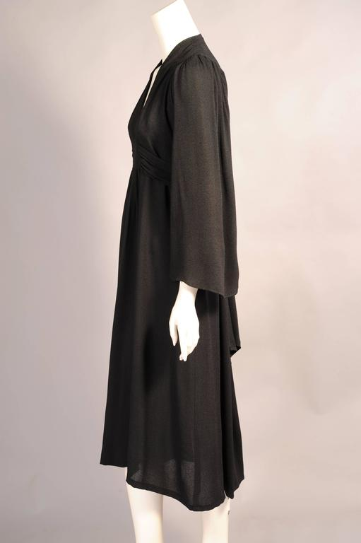 Ossie Clark Black Moss Crepe Dress 3