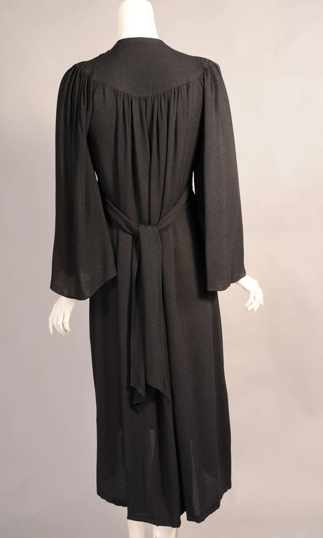 Ossie Clark Black Moss Crepe Dress 4