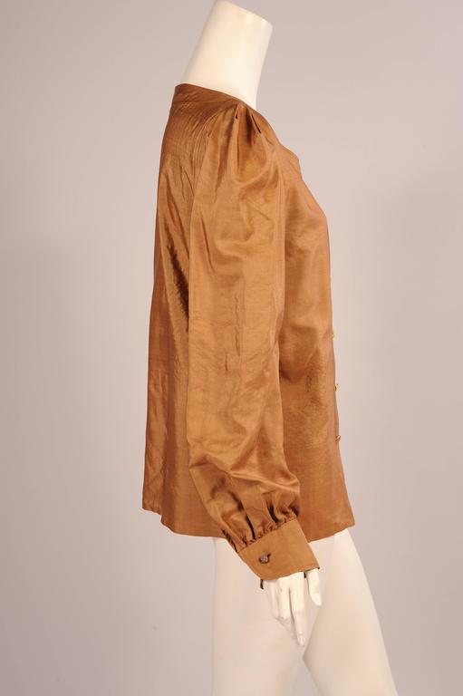 Yves Saint Laurent Haute Couture Silk Blouse 2