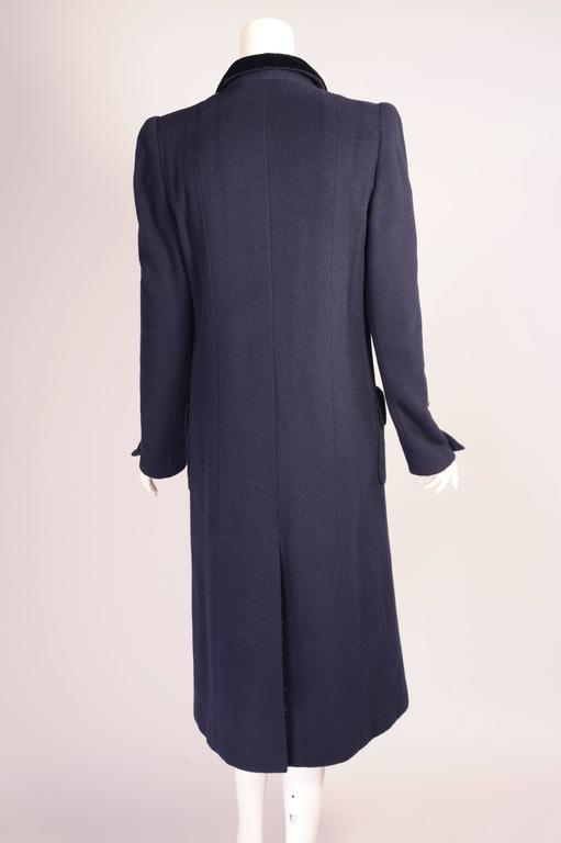 Women's Chanel Haute Couture Mink Lined Navy Blue Coat For Sale