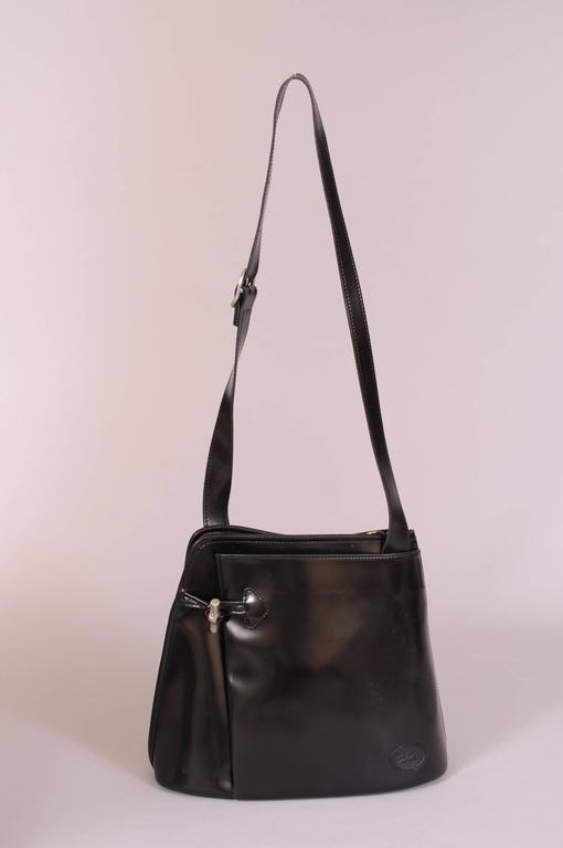 Longchamp Vintage Black Leather Shoulder Bag 2e205a22babc4