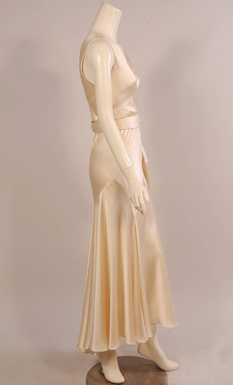 Maggie Norris Haute Couture 1930's Inspired Bias Cut Silk Charmeuse Evening Gown 2