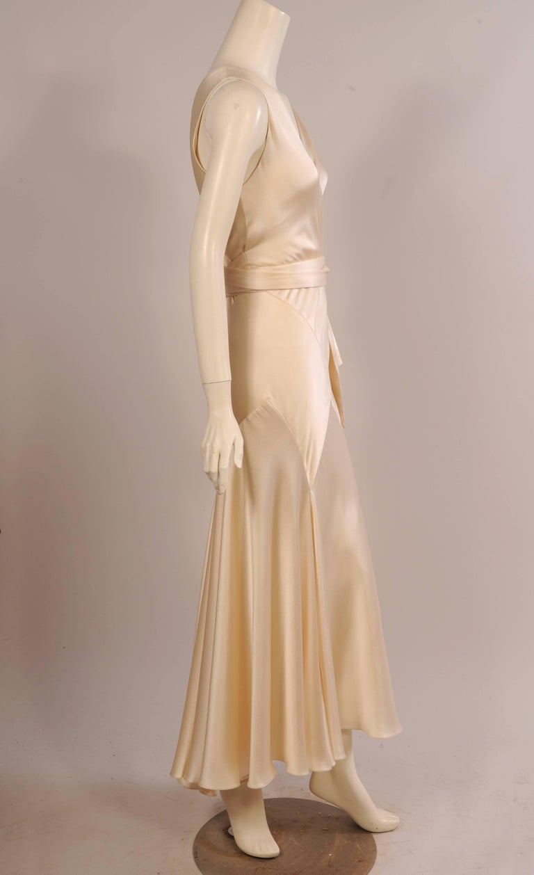 Maggie Norris Haute Couture 1930's Inspired Bias Cut Silk Charmeuse Evening Gown 3