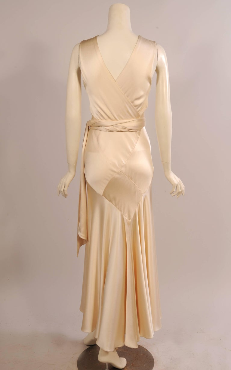 Maggie Norris Haute Couture 1930's Inspired Bias Cut Silk Charmeuse Evening Gown 4