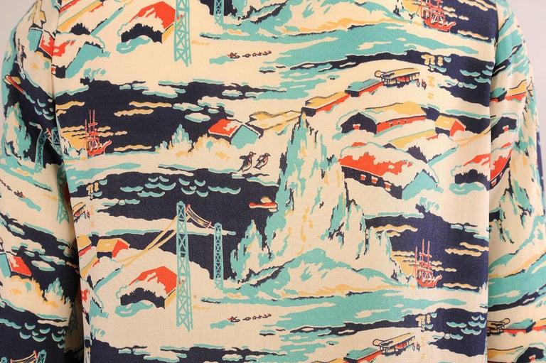 1920's Dress Mallinson's National Park Series Glacier Bay Alaska Pattern 6