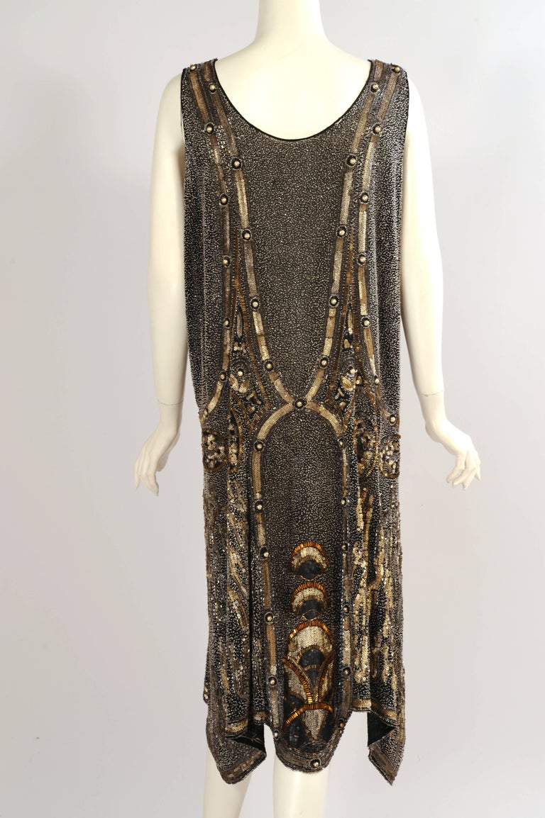 8b01cbb65 Women s Art Deco 1920 s Black and Gold Evening Dress