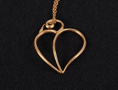 Paloma Picasso for Tiffany & Co Gold Heart Pendant and Chain