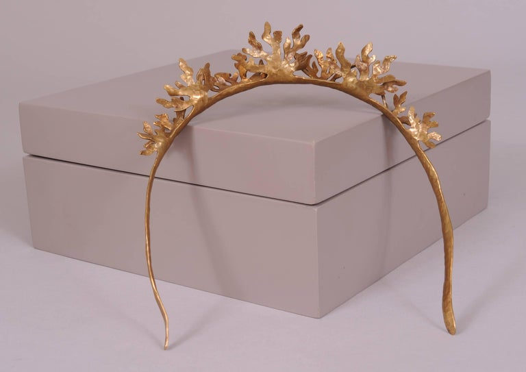 Christina Romo, Mexican Designer Handmade Tumbaga Crown or Bridal Headpiece For Sale 2
