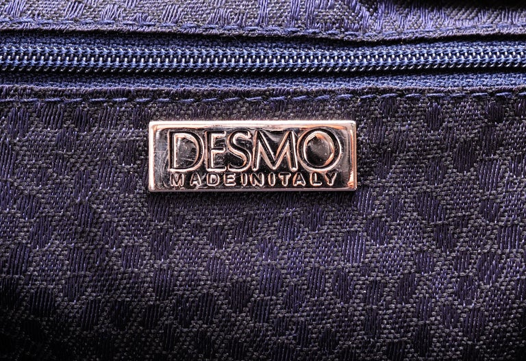 Desmo Black Lizard Clutch with Faceted Stone Clasp For Sale 2