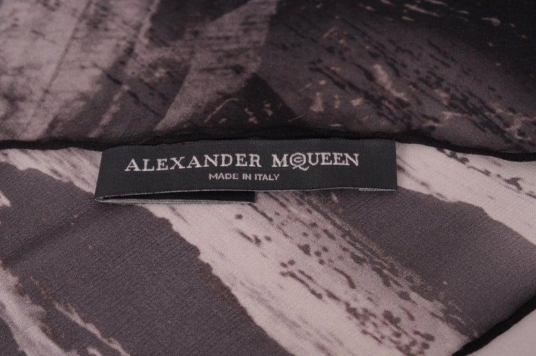 Women's or Men's Alexander McQueen Silk Chiffon Shawl For Sale