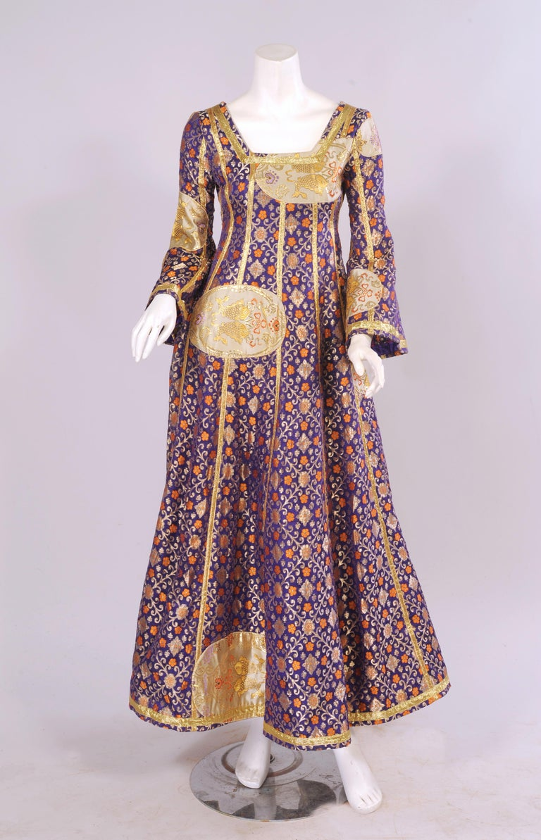 Giorgio Di Sant Angelo Patchwork Klimt Dress 1969 For Sale