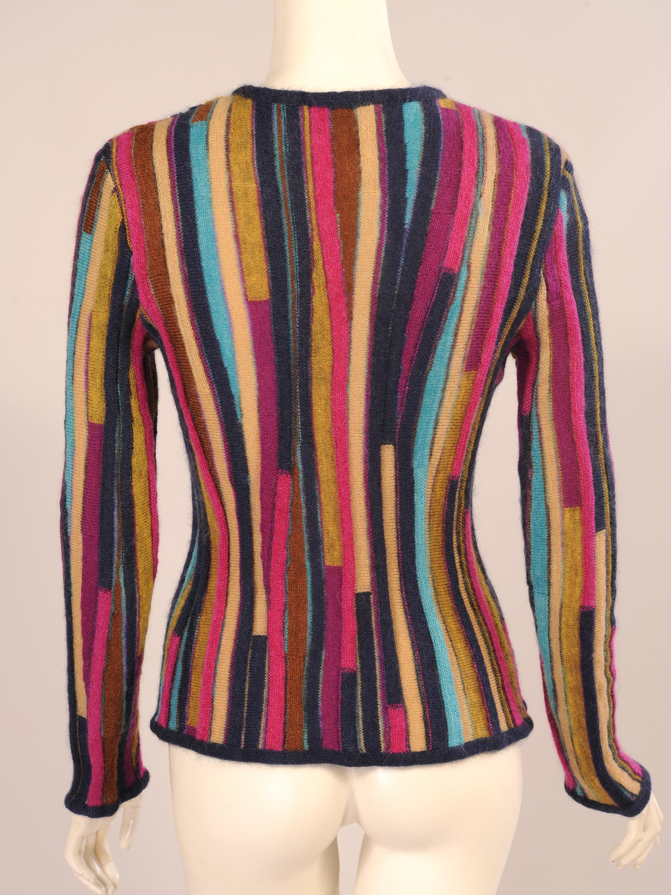 52c03f2d31f70 Missoni Colorful Striped Pullover Sweater Mohair and Wool For Sale at  1stdibs